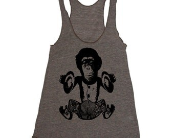 Workout Tank - Music Monkey Funny Workout Clothes For Women - Running Shirt - Run Tank Top - Run Shirt - Gym Tank Top