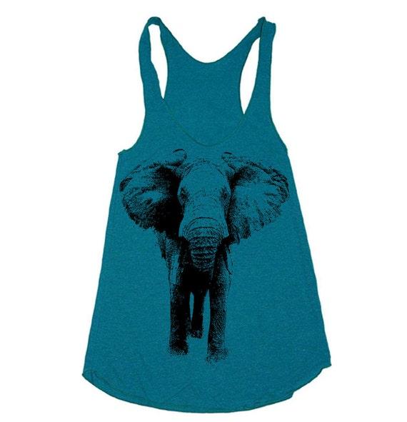 Workout Tank - Elephant Tanktop  - Workout Clothes For Women - Running Shirt - Run Tank Top - Run Shirt - Gym Tank Top