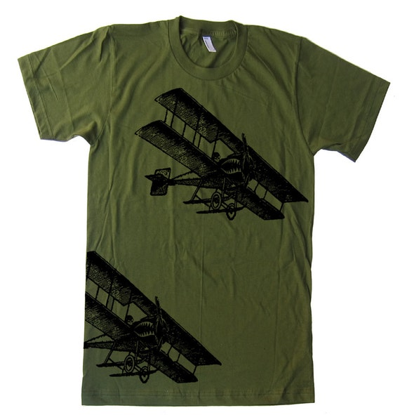 Mens Airplanes T Shirt - American Apparel Tshirt - XS S M L Xl and Xxl (28 Color Options)