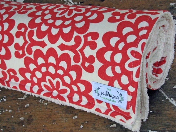 Amy Butler Lotus Wall flower & Chenille Baby Blanket