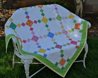 Floral Patchwork Toddler/Baby  Quilt