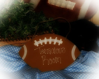 Football Personalized Childrens Room Decor SPORTS Wall Sign NAME Door Hanger