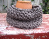 Gray Hand Knit Children's Cowl Scarf - Ready to ship