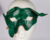 POISON IVY Mask. Designed & Hand Crafted in Wales. Leather Poison Ivy Mask.
