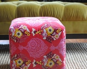 Upholstered Ottoman Cube
