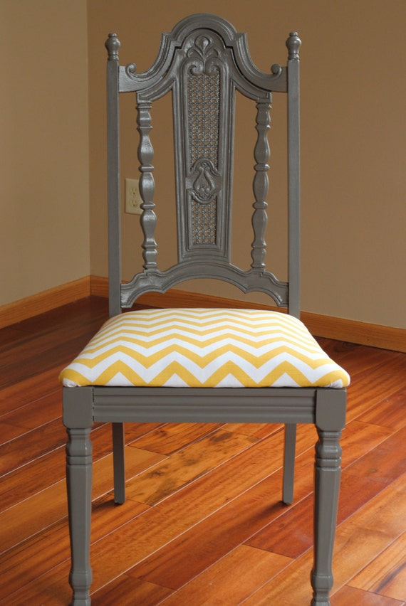 Set of TWO Chevron Dining Chairs