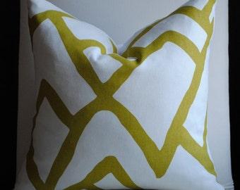 Beautiful Decorative Pillow Cover-18x18--ZIMBA- Chartreuse