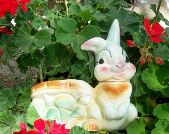 Vintage Disney Thumper Planter  flawd but not forgetten