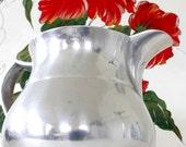 Mark Down - Vintage Pewter Water, Milk Pitcher or even Flower Vase
