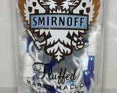 SALE-----Smirnoff Fluffed Marshmallow Vodka Bar/Table Bottle Accent Lamp/Light- NICE
