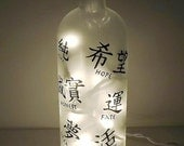 WORDS of Wisdom Recycled Bottle Accent Lamp/Light
