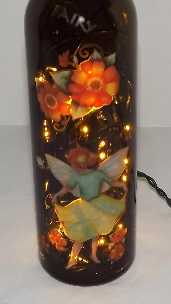 Unique Peach Fairy Bottle Accent Bar/Table Lamp/Light-NICE-Great Gift Idea