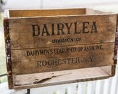 Vintage Dairylea Milk Crate (free US shipping)