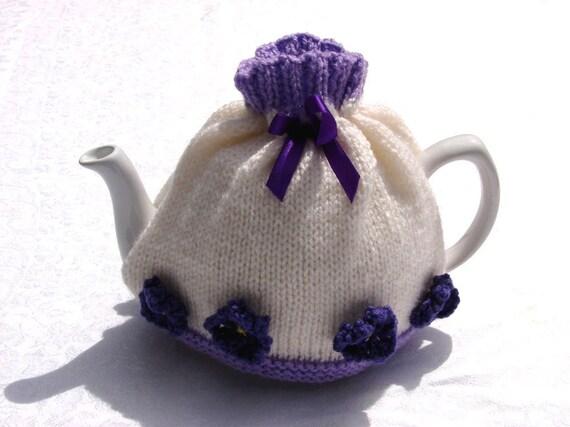 Bunch of Violets TEA COSY cozy teacosy teacozy