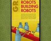 Robots Building Robots: 1950s Style Poster