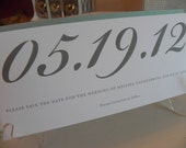 Modern Large Numbers Save the Date / Rehearsal Dinner / Birthday / Anniversary with Long Skinny Envelope