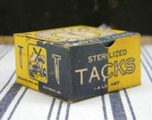 Tetanus Danger - vintage NOS box of Carpet Tacks