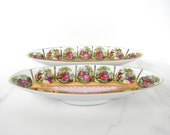 """Royal Vienna - pair of Relish dishes No. 1102 """"Courting Couples"""" design"""
