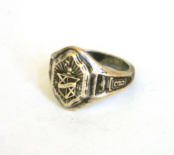 Items similar to High School Class Ring 1936 vintage Womens Sterling Silver