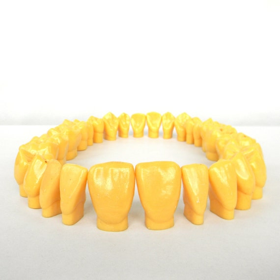Dental Stonehenge - vintage Large cast of human teeth from a Dental College