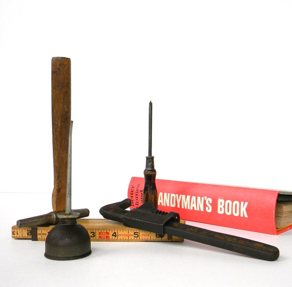 Father's Day Dream - vintage tools and Handyman's Book