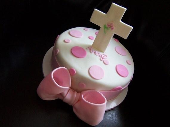 Edible Fondant Cross Cake Topper