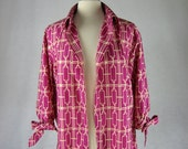 Feather light fuschia dress jacket