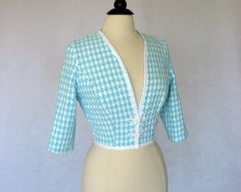 Sample Sale Sky Blue Womens Cropped Jacket