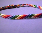 Lesbian Pride LGBT Rainbow Friendship Bracelet - Thin