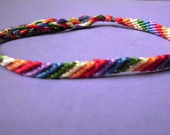 Gay Pride Rainbow LGBT Friendship Bracelet - Thin