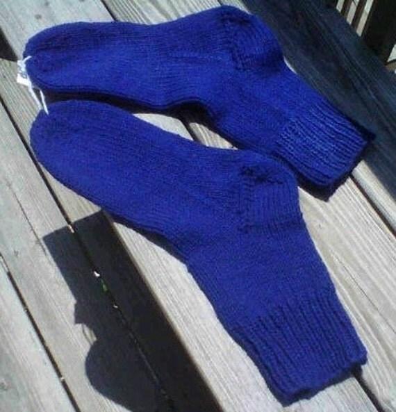 Hand knit men's socks