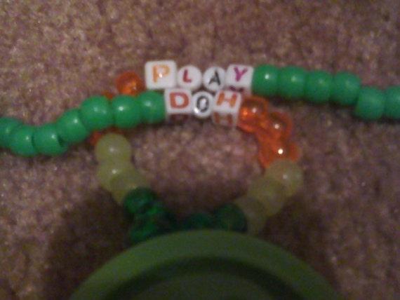 Play dough kandi necklace