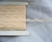 2 yards of Ivory Apricot Scalloped Lace Trim (D027/D031)