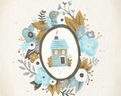 "Garland House - 8.5x11"" Print"