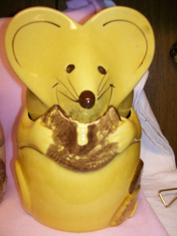 vintage lil mouse cookie jar la pottery laurie gates rare