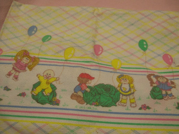 CABBAGE PATCH Kids Receiving Blanket for Baby Circa 1980s Just Reduced