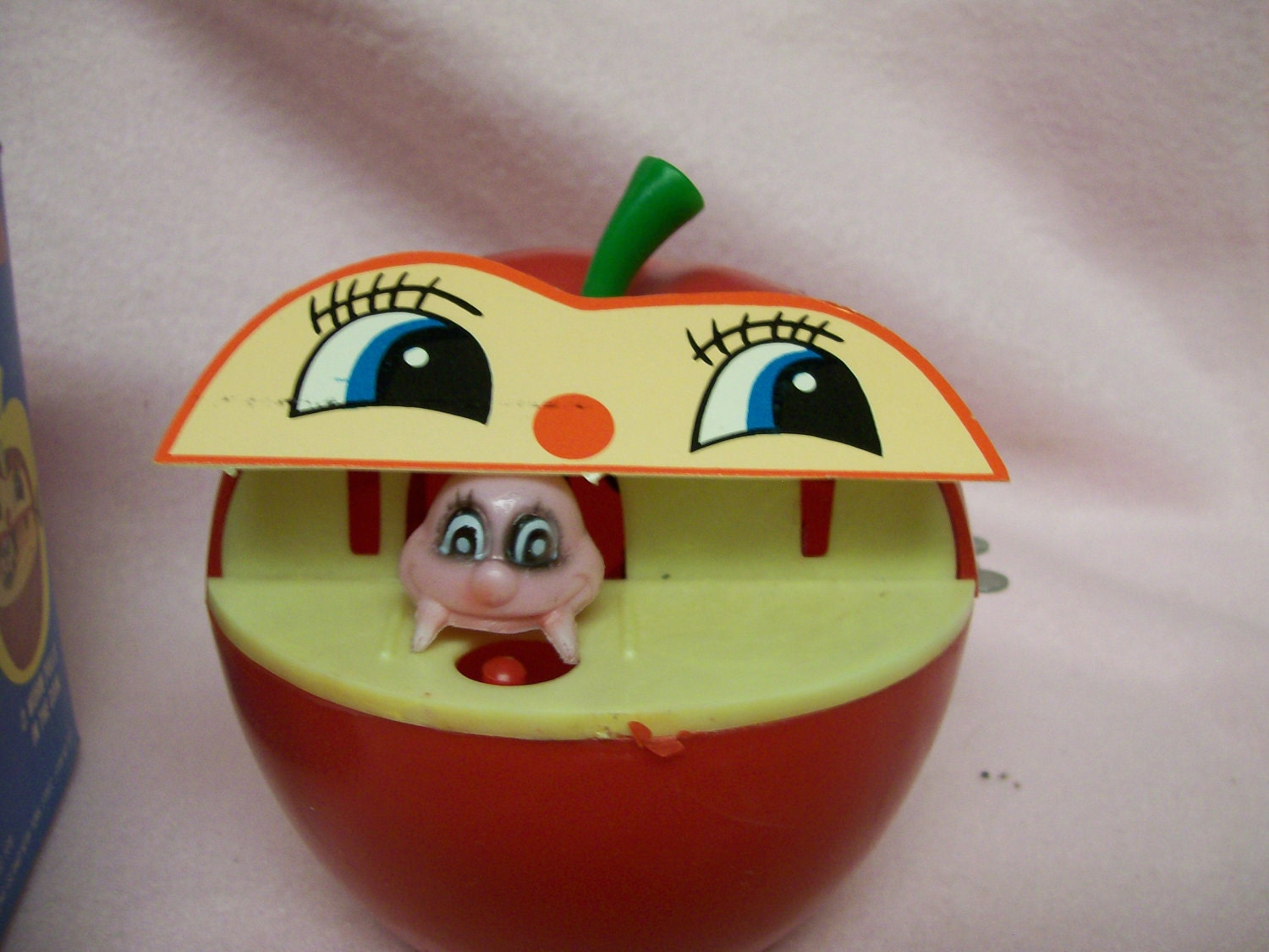 Vintage Apple Worm Bank A Wind Up Toy Bank With Original Box
