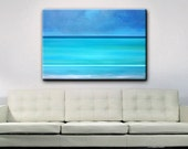 Abstract Art - Seascape - Beach Art - Ocean Painting - 48 x 36 - Shipping included within Continental US