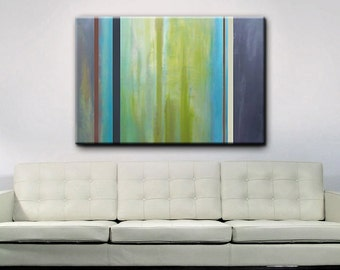 Abstract Art - Green Art - Modern Painting - 48 x 36 - Original Abstract Art - Painting - Shipping included within Continental US