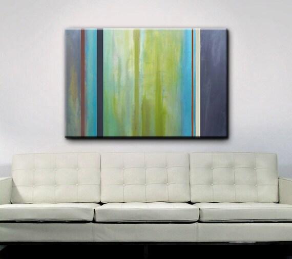 Abstract Art - Green Art - Modern Painting - 48 x 36 - Original Abstract Art - Painting - Shipping included within Continental US