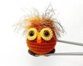 Amigurumi - Crazy hair owl MochiQtie - Crochet amigurumi mochi size mini toy doll