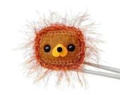Crochet Amigurumi - Square head Lion MochiQtie - Amigurumi mochi size mini animal doll toy