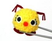 Amigurumi crochet mochi size mini doll toy - Red nose kawaii monster MochiQtie - crochet amigurumi