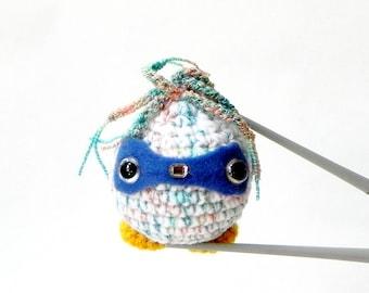 Amigurumi robot MochiQtie - Messy wired robot - Mochi size crochet Amigurumi toy