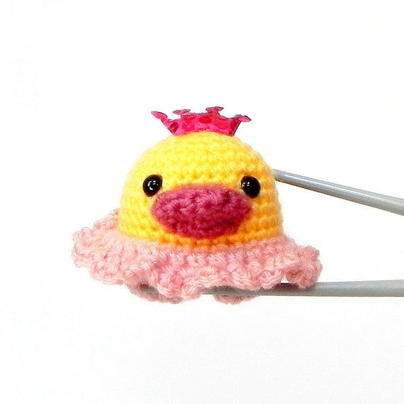 Amigurumi duck mochi size toy doll - LIttle princess duckling MochiQtie