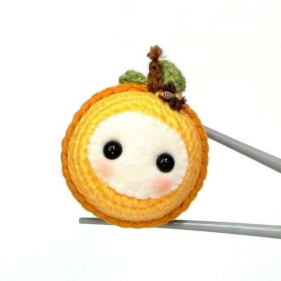 Amigurumi - Orange Baby MochiQtie - Crochet Amigurumi mochi size mini toy doll