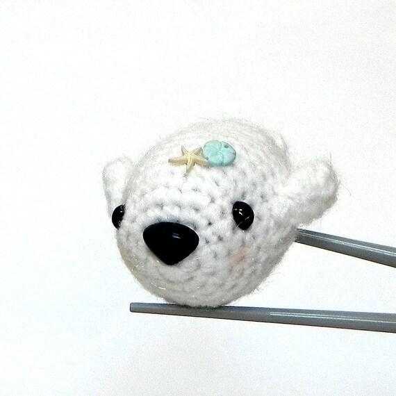 Crochet amigurumi - Chubby baby seal MochiQtie - Amigurumi mochi size mini toy doll
