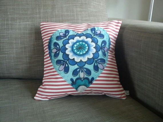 Cushion with a Retro Fabric Heart
