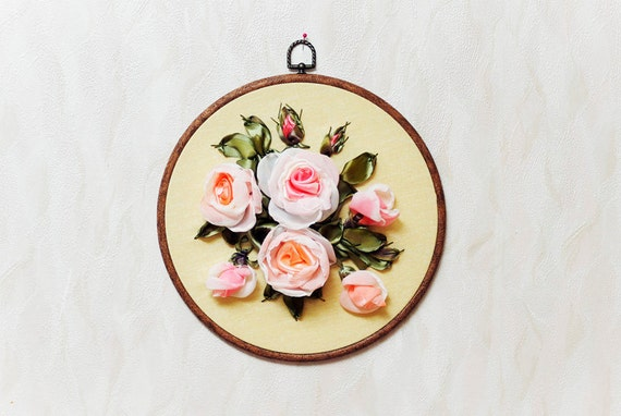 Embroidered Floral -Silk Ribbons