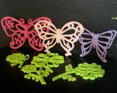 Upcycled Vintage Homco and Syroco Butterflies & Flowers - Colorful Wall Art - Nursery or Teen Wall Decor